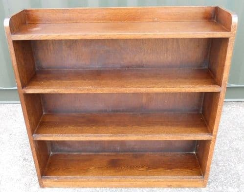 Open Oak Standing Bookcase