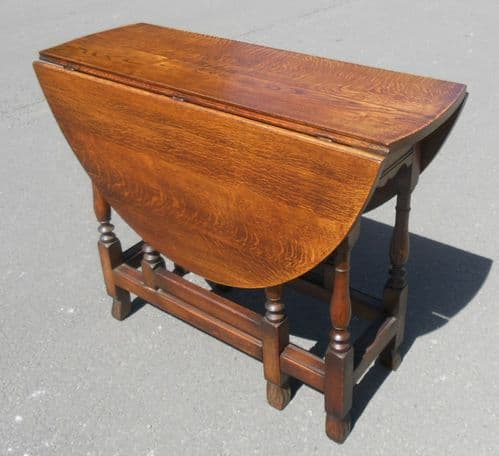 Oval Oak Gateleg Dining Table by Old Charm