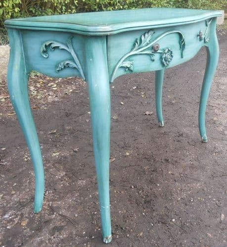 Painted Serpentine Front Side Table