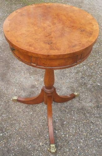 Quality Walnut Pedestal Wine Table