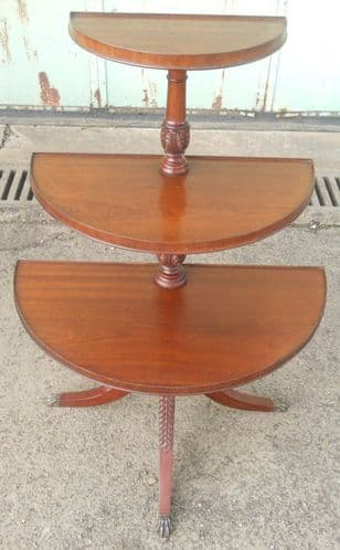 Regency Style Mahogany Bow Front Dumbwaiter Stand