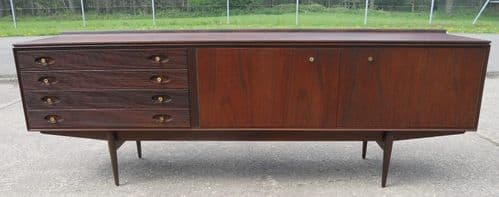 Rosewood & Teak Long Hamilton Sideboard by Robert Heritage for Archie Shine
