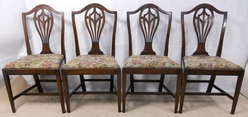 Set of Four Mahogany Dining Chairs in Georgian Style