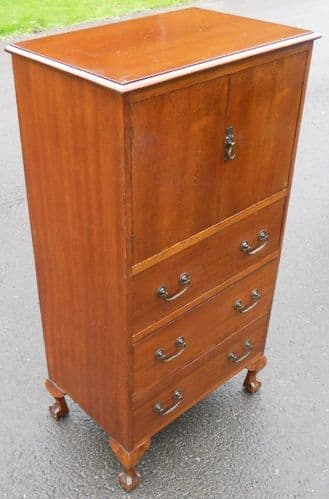 Small Mahogany Tallboy Chest of Drawers