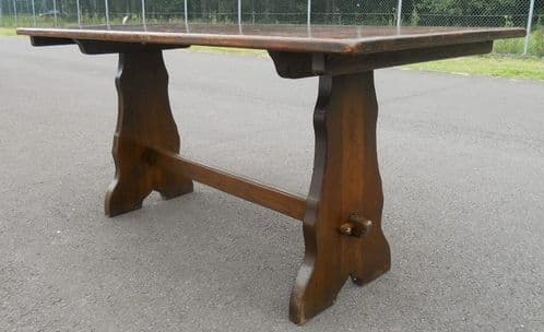 SOLD - Solid Oak English Refectory Dining Table