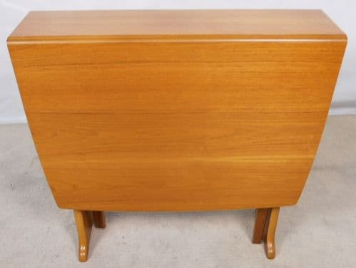SOLD - Teak Dropleaf Dining Table to Seat Eight by Legate