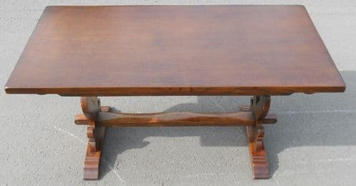 Solid Oak Refectory Dining Table - SOLD