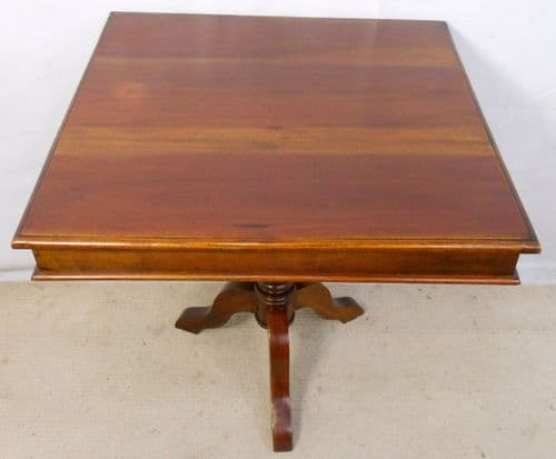 Square Mahogany Pedestal Centre Occasional Table - SOLD