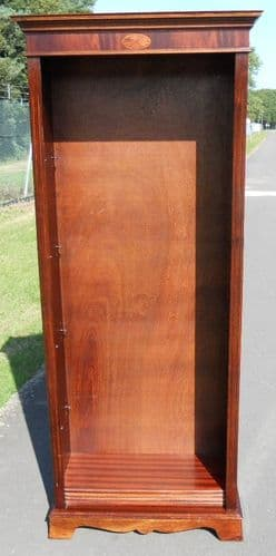 Tall Mahogany Open Bookcase Cabinet by Kellward Reproduction