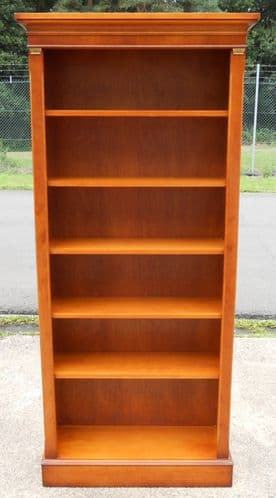 Tall, Yew Wood, Standing Open Bookcase Shelves by Bradley - SOLD