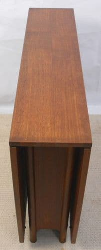Teak Narrow Spacesaver Dropleaf Dining Table to Seat Six -SOLD
