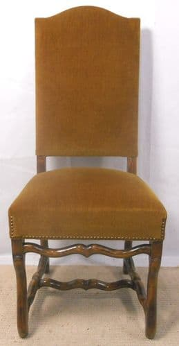Upholstered Highback Hall / Dining Chair