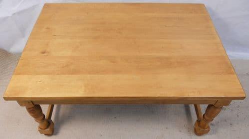 Victorian Style Large Stripped Pine Coffee Table - SOLD