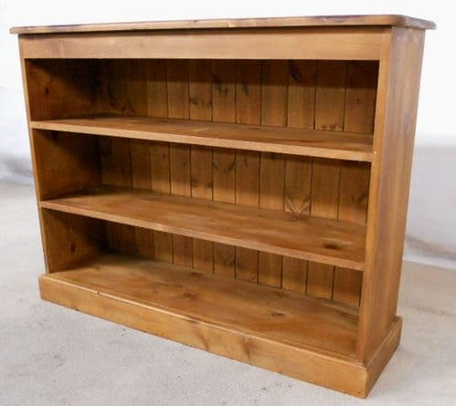 Victorian Style Open Standing Pine Bookcase