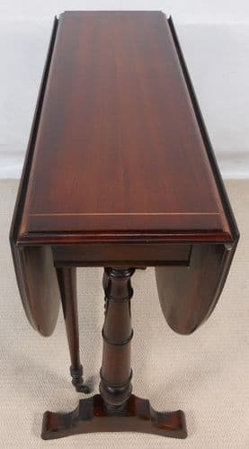 Victorian Style Oval Mahogany Dropleaf Breakfast Table - SOLD