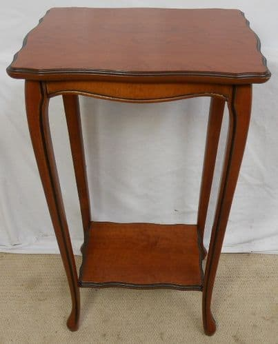 Walnut Two Tier Table Stand