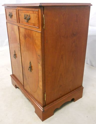 Yew Cabinet with Lift up Lid - SOLD
