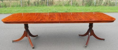 Yew Extending Dining Table by Bradley to Seat Ten