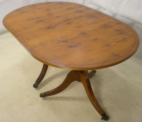 Yew Extending Dining Table in the Regency Style - SOLD