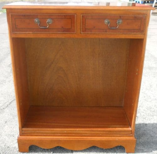 Yew Open Standing Cabinet Bookcase