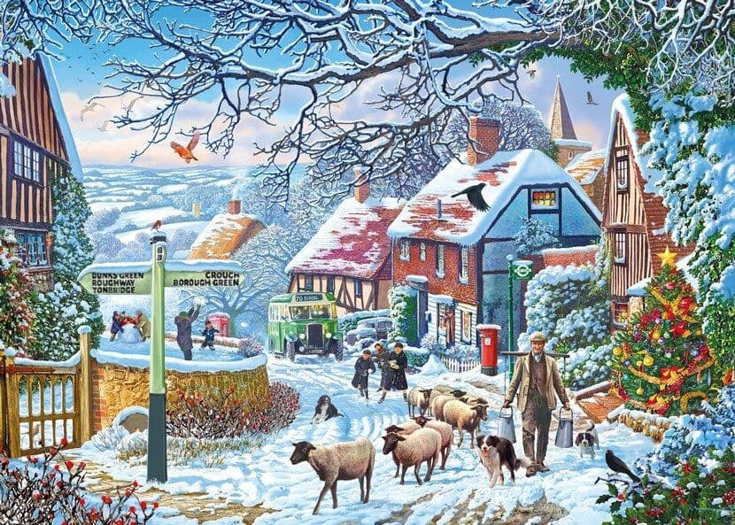 A Winter Stroll - 1000 Pieces