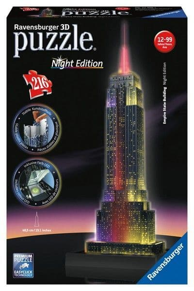 Empire State Building Night Edition 3D Jigsaw