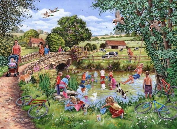 Pond Dippers - 1000 Pieces|House of Puzzles