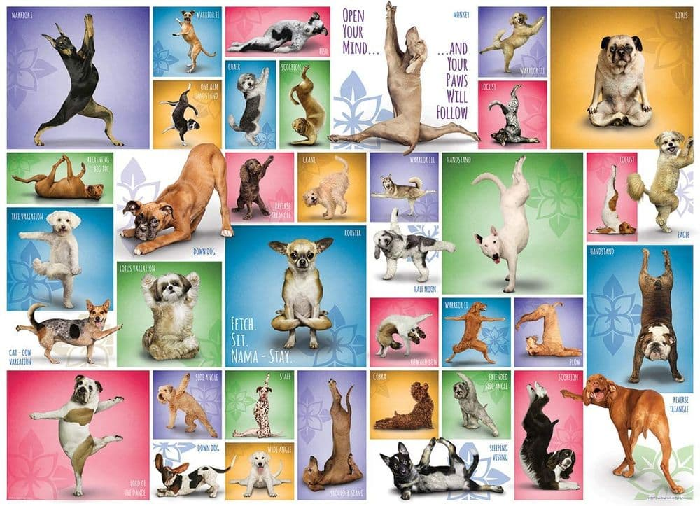 Yoga Dogs - 1000 Pieces