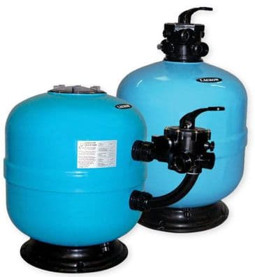 """02. 18"""" Lacron Side Mount Swimming Pool Sand Filter 6"""" Polycarbonate Lid - Drilled with two holes"""
