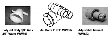 """1. Poly Jet Body 3/8"""" Air x 3/4"""" Water"""