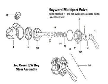 10. Top Cover C/W Key Stem Assembly
