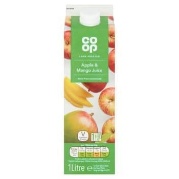Co-op 100% Pressed Apple & Mango Juice 1 Litre