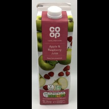 Co-op Apple & Raspberry Juice