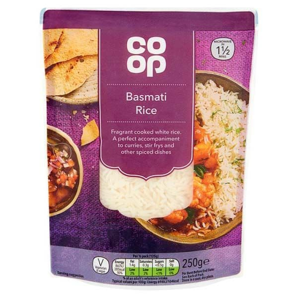 Co-op Basmati Microwave Rice 250g