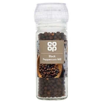 Co-op Black Peppercorns Mill 50g