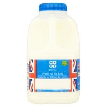Co Op British Fresh Whole Milk 1 Pints