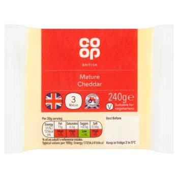 Co-op British Mature Cheddar 240g
