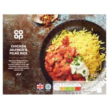 Co Op Chicken Jalfrezi & Pilau Rice 425g