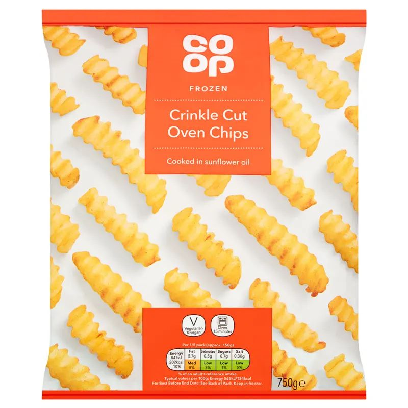 Co-op Crinkle Cut Oven Chips 750g