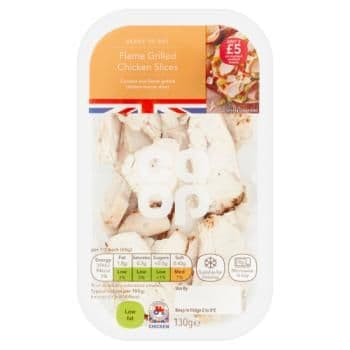 Co-op Flame Grilled Chicken Slices 130g