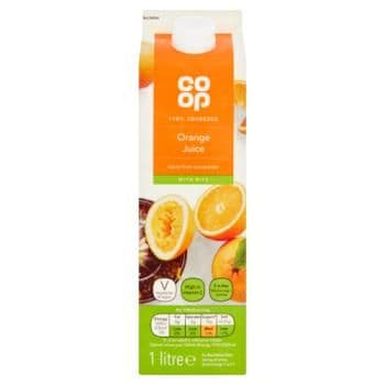 Co-op Orange Juice with Bits 1 Litre