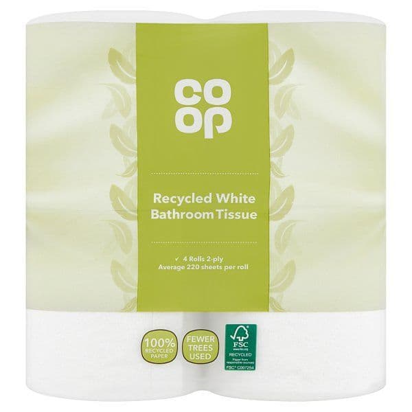 Co-op Recycled Toilet Tissue 4 Roll