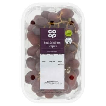 Co-op Red Seedless Grapes
