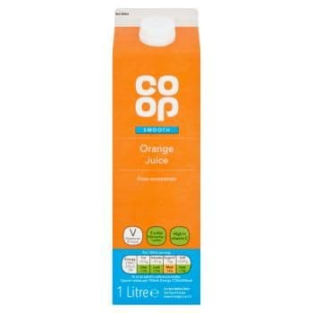 Co-op Smooth Orange Juice 1 Litre