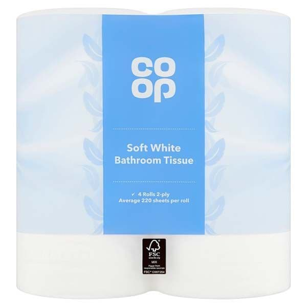 Co-op Soft White Bathroom Tissue 4