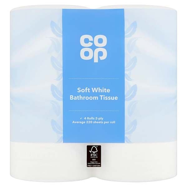 Co-op Soft White Toilet Roll 9pk
