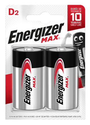 Energizer D Size Max,  2Pack