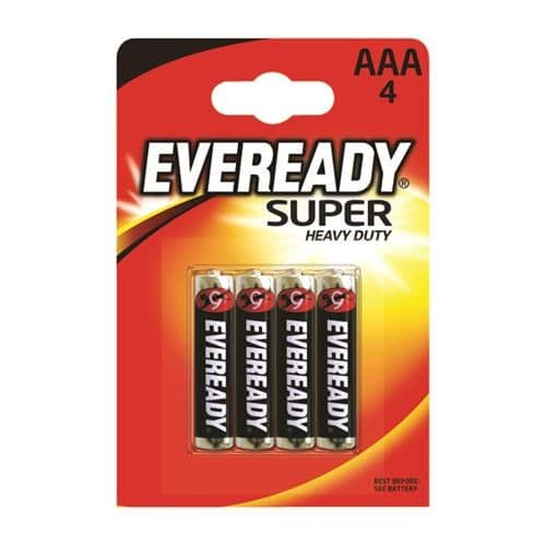 Eveready Super Heavy Duty AAA Batteries (4 Pack)