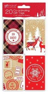 Giftmaker 20 Co-Ordinating Gift Tags