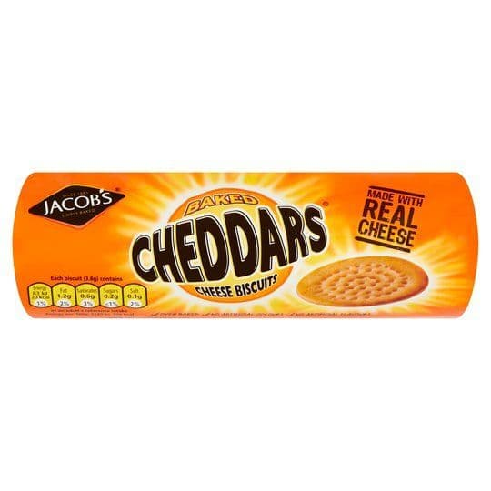 Jacobs Baked Cheddar Biscuits Cheese 150G